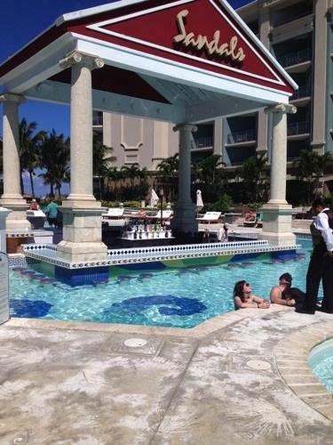 Sandals Royal Bahamian swim up pool bar
