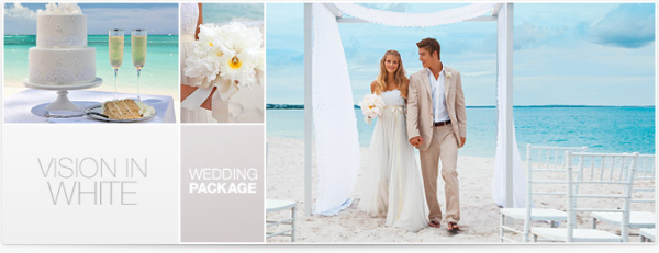 Vision in White Destination Wedding Package