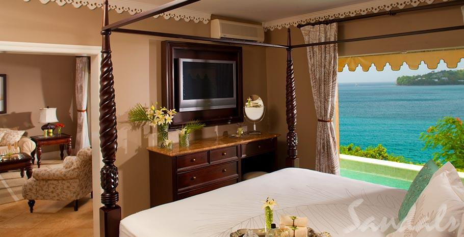 st lucia honeymoon suite