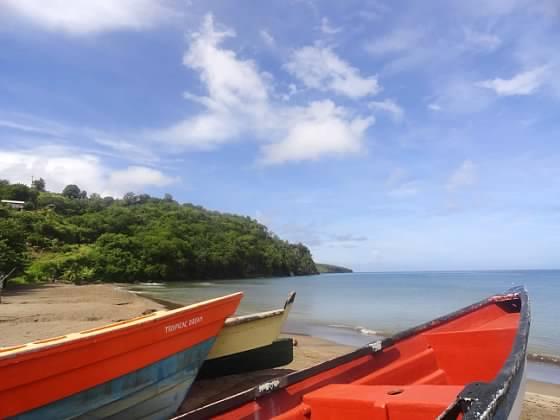 St Lucia fishing village