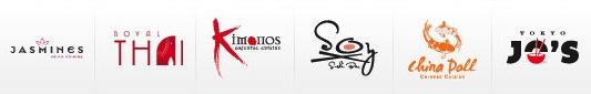 Sandals Asian Restaurants Logos