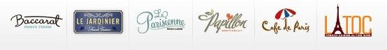Sandals Resorts French Restaraunts Logos