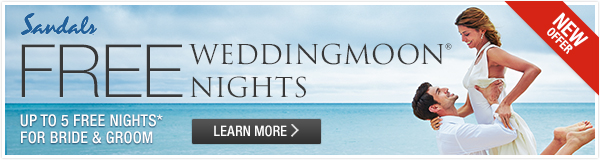 Sandals destination wedding free nights