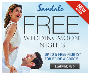 Sandals destination wedding free nights square
