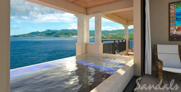 Honeymoon suite sandals lasource grenada