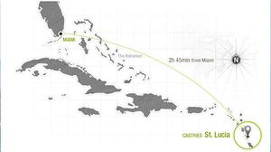 Sandals Regency La Toc St Lucia relative map