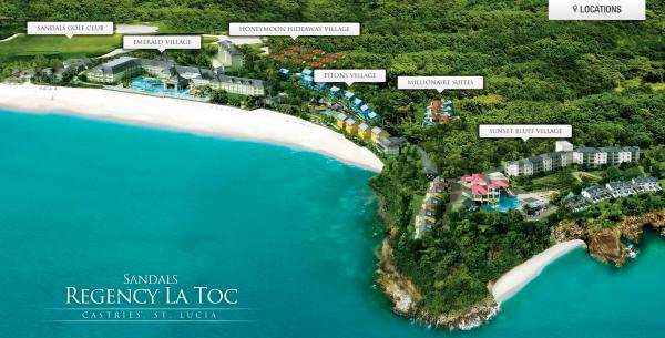 Sandals Regency La Toc St Lucia Map resized 600